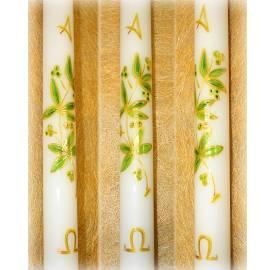 Vela-bautizo-litúrgico-olivo