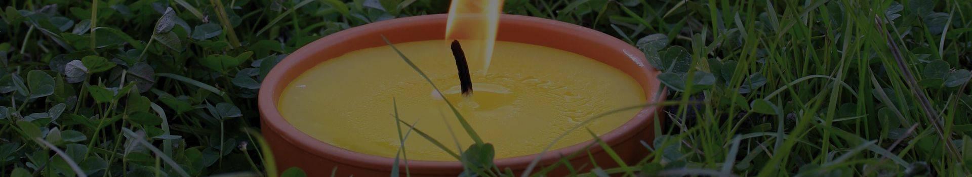 Velas de citronella. Velas animosquitos - Cereria Pinsart