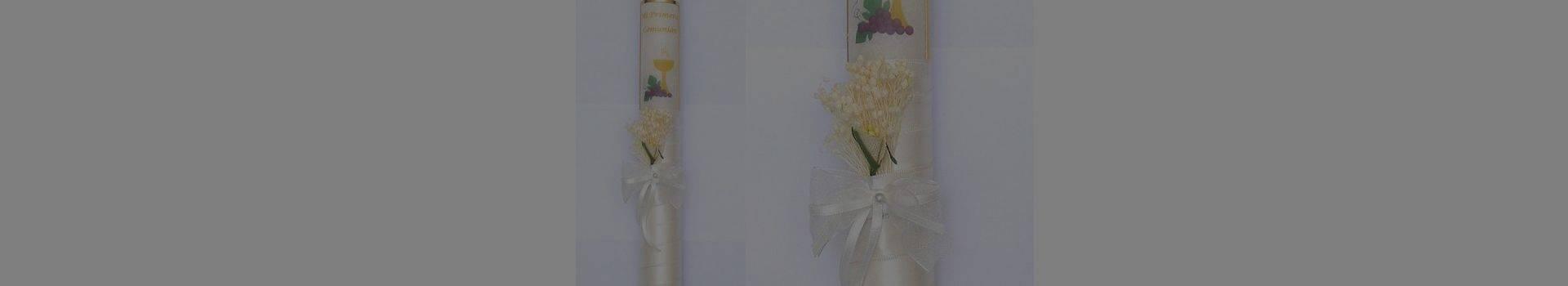Velas de comunión y cirios de ceremonia, velas de ceremonia decoradas